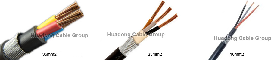 types of 25mm armoured cable 4 core size pictures