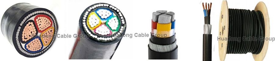 Huadong 25mm armoured cable 4 core sample pictures