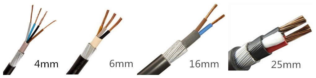 16mm 10mm 6mm swa armoured cable supplier