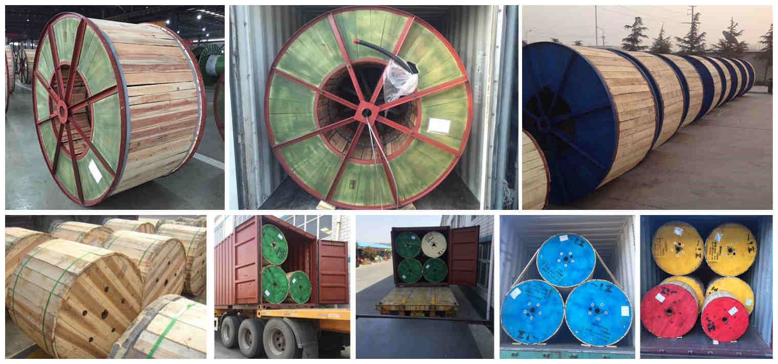 300 mm 3 core cu xlpe swa armoured cable packaging