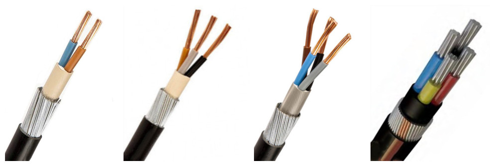 90- 50mm 4 core armored cable sizes supplier