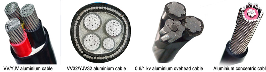types of 16- 240 mm sq aluminium cable size