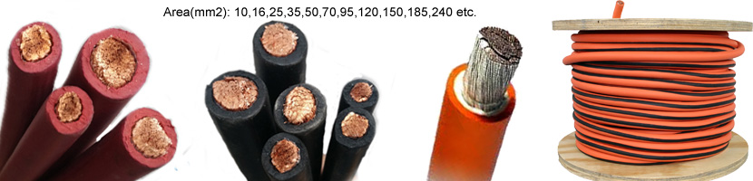 70mm flexible PVC Rubber Cable Types