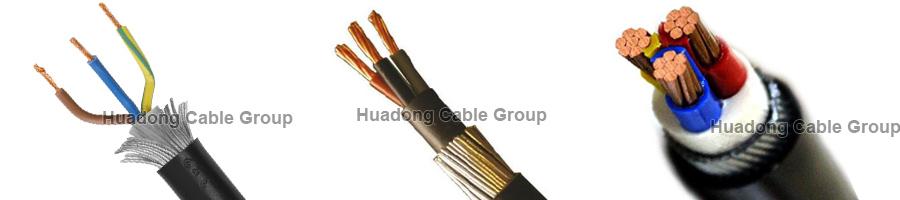 3-4 core cu xlpe pvc swa power cable