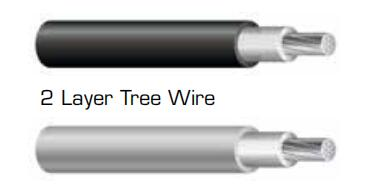 15kv AAAC ACSR condcutor cover 2 layer tree wire