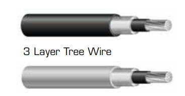 25kv 35kv 3 layer tree wire cable
