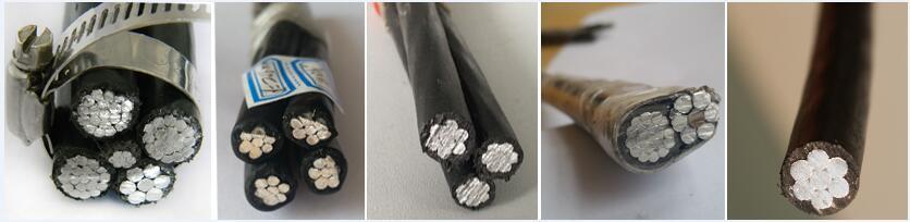 aluminum xlpe 3 core 4 core 16mm electrical abc cable for sale
