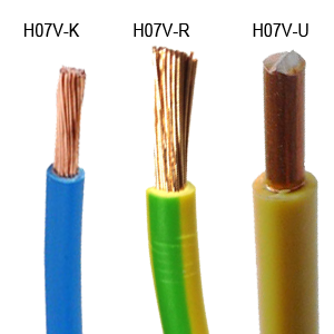 h05v-k-u-r house electrical cable and h07v-k u r cable